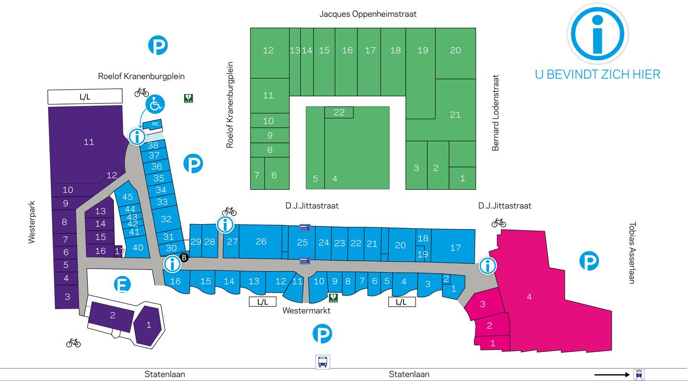 Westermarkt kaart